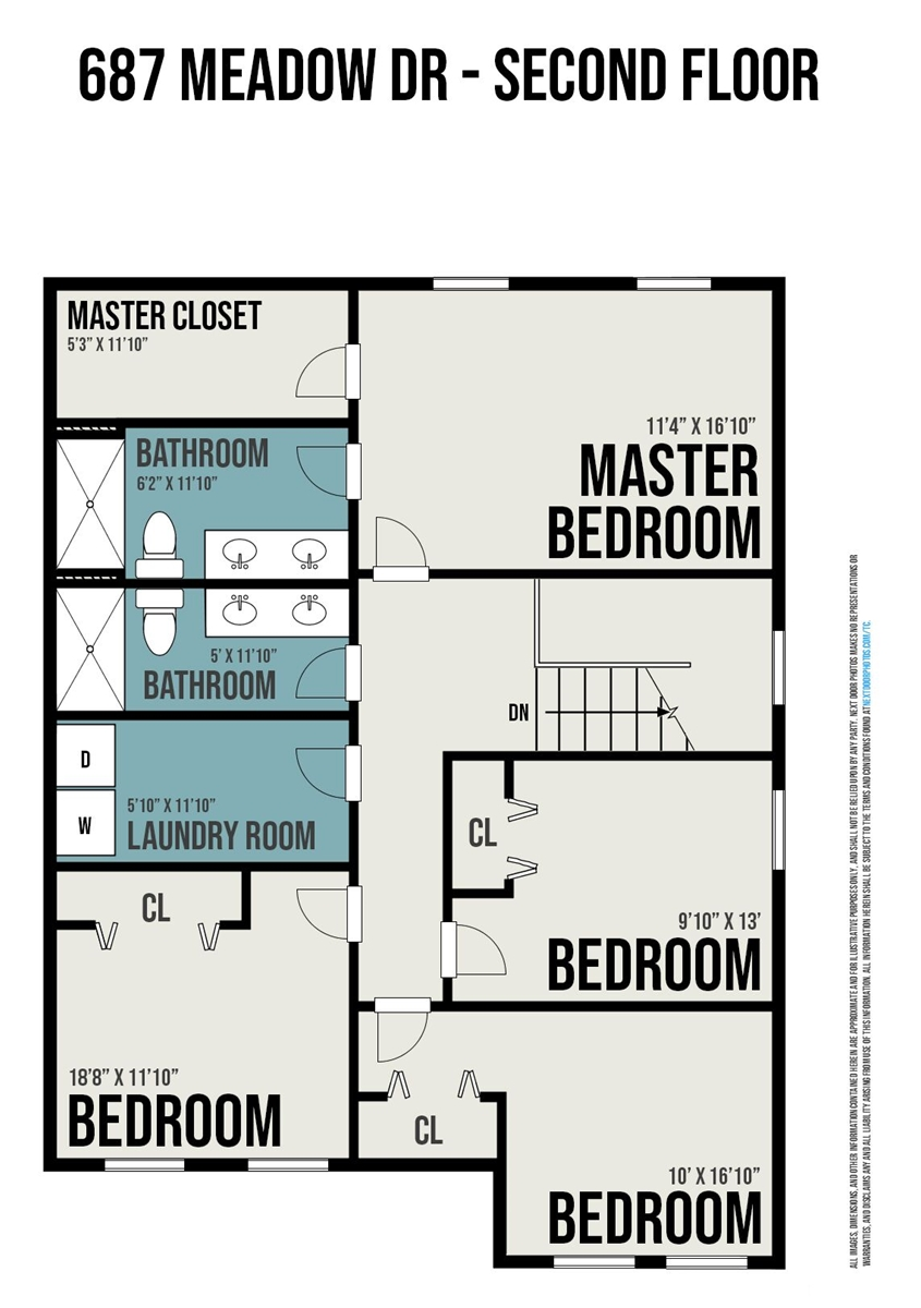 Floor Plan for Indigo Haven Lake House- A gorgeous, well appointed 4 bedroom cottage in the Harbor Club- with pool access!